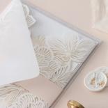 Gold Foil Stamped Floral Laser Cut Elegance - Wedding Invitations - BH1680-F - 178746