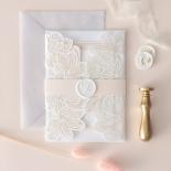 Gold Foil Stamped Floral Laser Cut Elegance - Wedding Invitations - BH1680-F - 178749