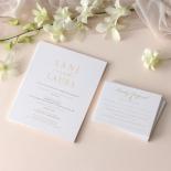 Premium Triplex and Foiled Elegance  - Wedding Invitations - WP-TP02-MG-02-P - 178780