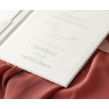 Sophisticated Textured White Hardcover  - Wedding Invitations - HC-TW01 - 178985