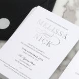 Contemporary Elegance in Ebony & Silver Triplex - Wedding Invitations - TPBS-GS - 178440
