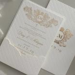 Royal Quilted Half Pocket - Wedding Invitations - WP309GG - 178269
