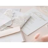 Gold Foil Stamped Floral Laser Cut Elegance - Wedding Invitations - BH1680-F - 178754