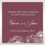 Imperial Glamour without Foil wedding stationery gift tag design