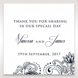 Imperial Glamour without Foil wedding stationery gift tag