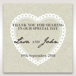 Letters of love wedding gift tag