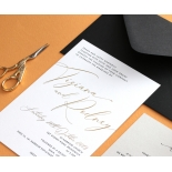 Gold Foil and Black Print Triplex - Wedding Invitations - WP-TP01-GG-01 - 178958