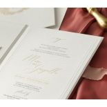 Sophisticated Textured White Hardcover  - Wedding Invitations - HC-TW01 - 178987