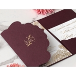 Opulent Burgundy and Gold Pocket  - Wedding Invitations - BP-SOLPW-TR30-GG-02 - 178593