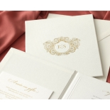 Sophisticated Textured White Hardcover  - Wedding Invitations - HC-TW01 - 178988