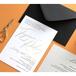 Gold Foil and Black Print Triplex - Wedding Invitations - WP-TP01-GG-01 - 178959