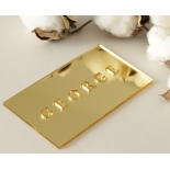 Mirror Laser Cut Names - Place Cards - LC-NAMECARD_MI-G - 178710
