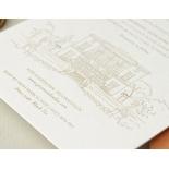 Letterpressed Castle Illustration - Wedding Invitations - WP-IC55-LP-02 - 178817