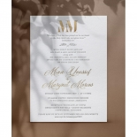 Foil and Letterpress Elegance - Wedding Invitations - WP-IC55-BLGG-03 - 179121