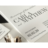 Sophisticated in Grey Letterpress - Wedding Invitations - WP-IC55-LP-01 - 178802
