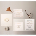 Sophisticated Textured White Hardcover  - Wedding Invitations - HC-TW01 - 178485