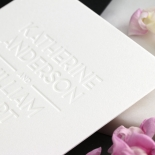 Chic Blind Letterpress on Cotton White - Wedding Invitations - WPBD-01 - 178503