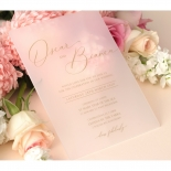 Frosted Acrylic Elegance - Wedding Invitations - BON-GOLD-F-1 - 178642