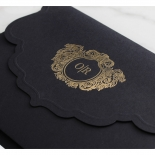 Magnificent Ebony and Gold Pocket  - Wedding Invitations - BP-SOLPW-TR30-GG-01 - 178558