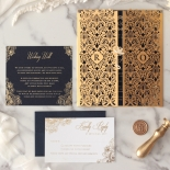 Imperial Glamour - Navy - Wedding Invitations - PWI116022-NV - 178782