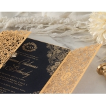 Imperial Glamour - Navy - Wedding Invitations - PWI116022-NV - 178785