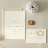 Letterpressed Monogram with Foil  - Wedding Invitations - WP-IC55-BLGG-01 - 178934