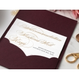 Opulent Burgundy and Gold Pocket  - Wedding Invitations - BP-SOLPW-TR30-GG-02 - 178591