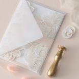 Gold Foil Stamped Floral Laser Cut Elegance - Wedding Invitations - BH1680-F - 178747