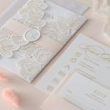 Gold Foil Stamped Floral Laser Cut Elegance - Wedding Invitations - BH1680-F - 178751