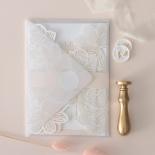 Gold Foil Stamped Floral Laser Cut Elegance - Wedding Invitations - BH1680-F - 178745