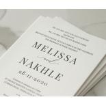 Black and Chic Letterpress - Wedding Invitations - WP-IC55-LP-04 - 179045