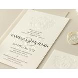 Blind Embossed Regal Crest - Wedding Invitations - WP-IC55-BLBF-01 - 178920