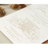 Letterpressed Castle Illustration - Wedding Invitations - WP-IC55-LP-02 - 178818