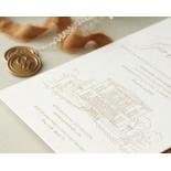 Letterpressed Castle Illustration - Wedding Invitations - WP-IC55-LP-02 - 178819