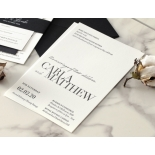 Sophisticated in Grey Letterpress - Wedding Invitations - WP-IC55-LP-01 - 178803