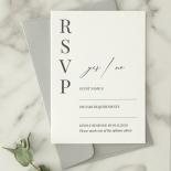 Black and Chic Letterpress - Wedding Invitations - WP-IC55-LP-04 - 179046