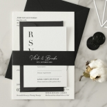 Sophisticated in Grey Letterpress - Wedding Invitations - WP-IC55-LP-01 - 178801