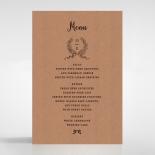 Chic Country Passion wedding menu card design