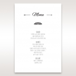 Country Lace Pocket reception table menu card stationery item