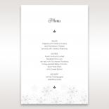 Floral Cluster wedding reception table menu card stationery item