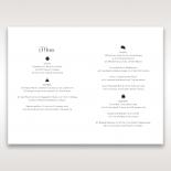 Floral Cluster wedding venue table menu card