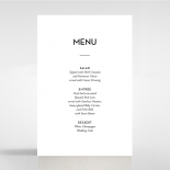 Frosted Chic Charm Paper wedding venue menu card design