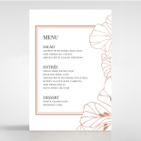 Grand Flora reception table menu card design