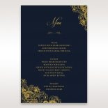Imperial Glamour with Foil wedding stationery table menu card item