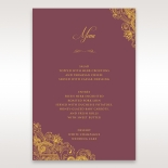 Imperial Glamour with Foil reception table menu card design