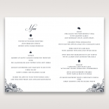 Imperial Glamour without Foil reception table menu card stationery