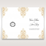 Imperial Glamour without Foil reception table menu card stationery item