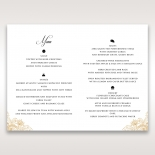 Imperial Glamour without Foil wedding reception table menu card