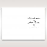 Letters of love wedding stationery menu card design