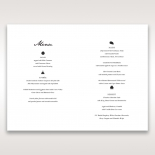Letters of love wedding stationery menu card